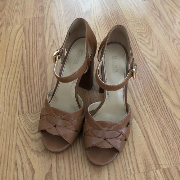 6929df7f89e6 Michael Kors Annalise s Leather Platform Sandals
